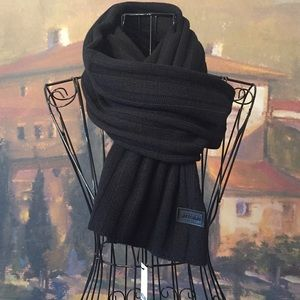 BNWT Authentic MOSCHINO Black Scarf